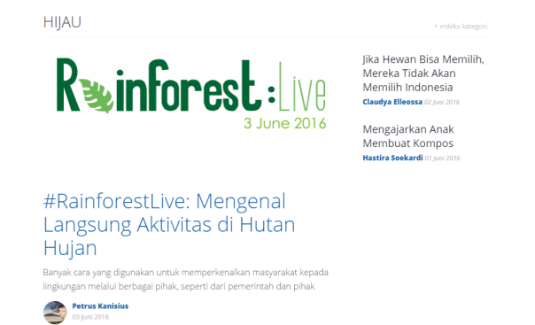 Headline_kompasiana_Rainforest live