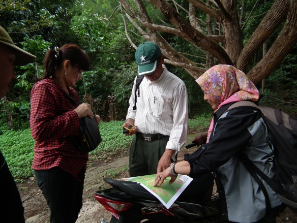 Verication process for community forest at Laman satong
