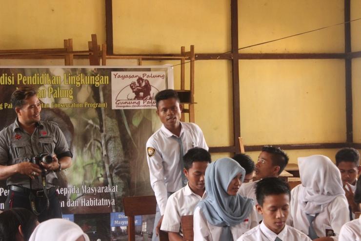 Saat lecture di SMAN 1 Sungai Laur