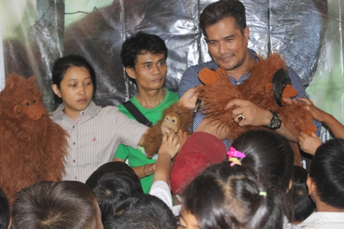 Puppet show di SDN 1 Sungai Laur