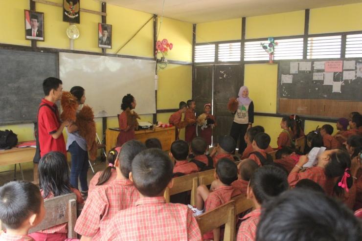 Puppet Show di SDN 17 Jago, Sandai kab. Ketapang