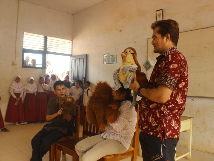 Puppet Show di SDN 17 Matan Jaya, KKU_foto 1