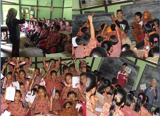 Saat kami melakukan pendidikan lingkungan melalui media boneka. Foto dok. Yayasan Palung.jpg