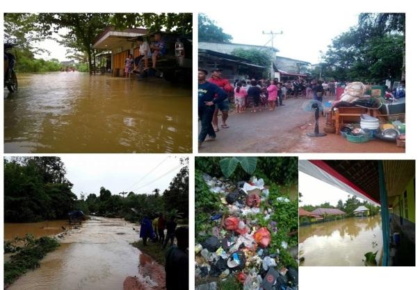 Banjir Jelai Hulu dan wilayah sekitarnya yang terjadi beberapa waktu lalu. Foto dok. Monga dari berbagai sumber