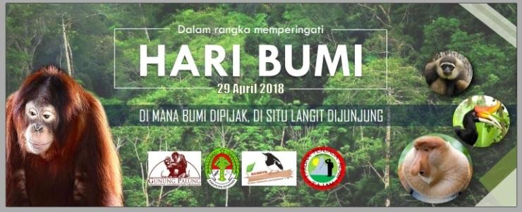 Banner Hari Bumi 2018. Foto dok.Yayasan Palung