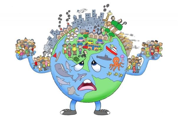 Bumi sebagai ibu dan rumah bersama yang sudah semakin sakit. Foto dok. bobo.id